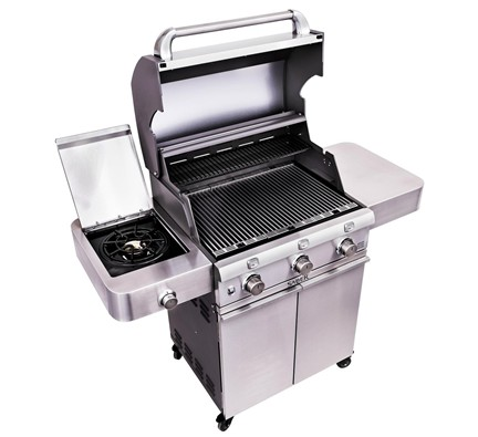 Saber Cast Stainless 3 Burner Gas Grill Breakaway