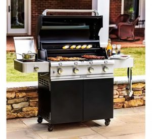 grilling safety tips - keep grill away from house