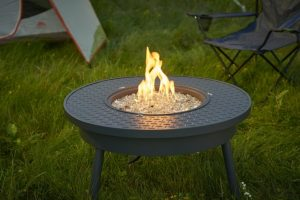 Outdoor GreatRoom portable gas fire pit table at Breakaway